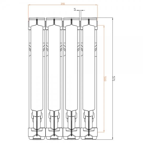 Радиатор алюминиевый АТМ Thermo Moderno 500/80