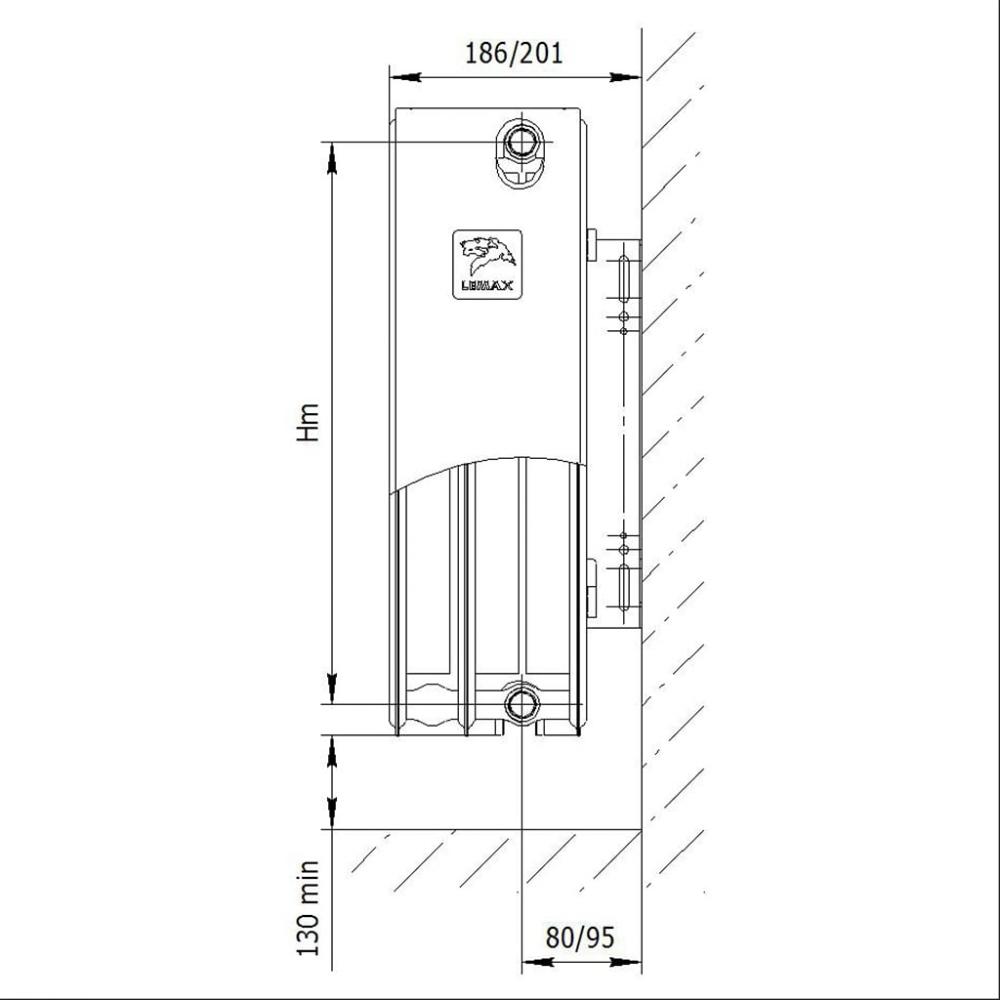 Радиатор стальной «LEMAX» Valve Compact 33 200х2800