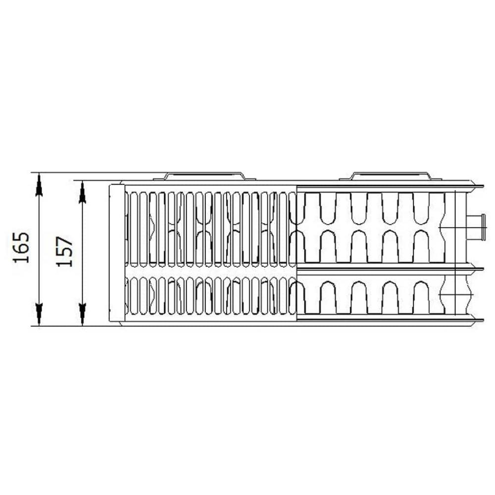 Радиатор стальной «LEMAX» Valve Compact 33 200х800